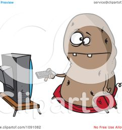 clipart fat couch potato flipping through channels on the tv royalty free vector illustration by [ 1080 x 1024 Pixel ]