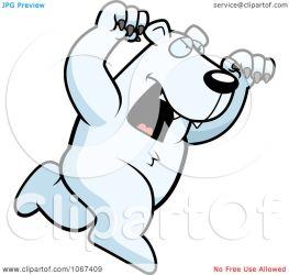 bear polar clipart attacking ferocious cartoon illustration coloring vector cory thoman royalty outlined clipartpanda panda regarding notes clipartof