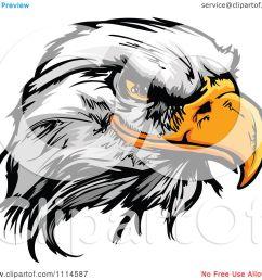 clipart fierce bald eagle mascot head royalty free vector illustration by chromaco [ 1080 x 1024 Pixel ]