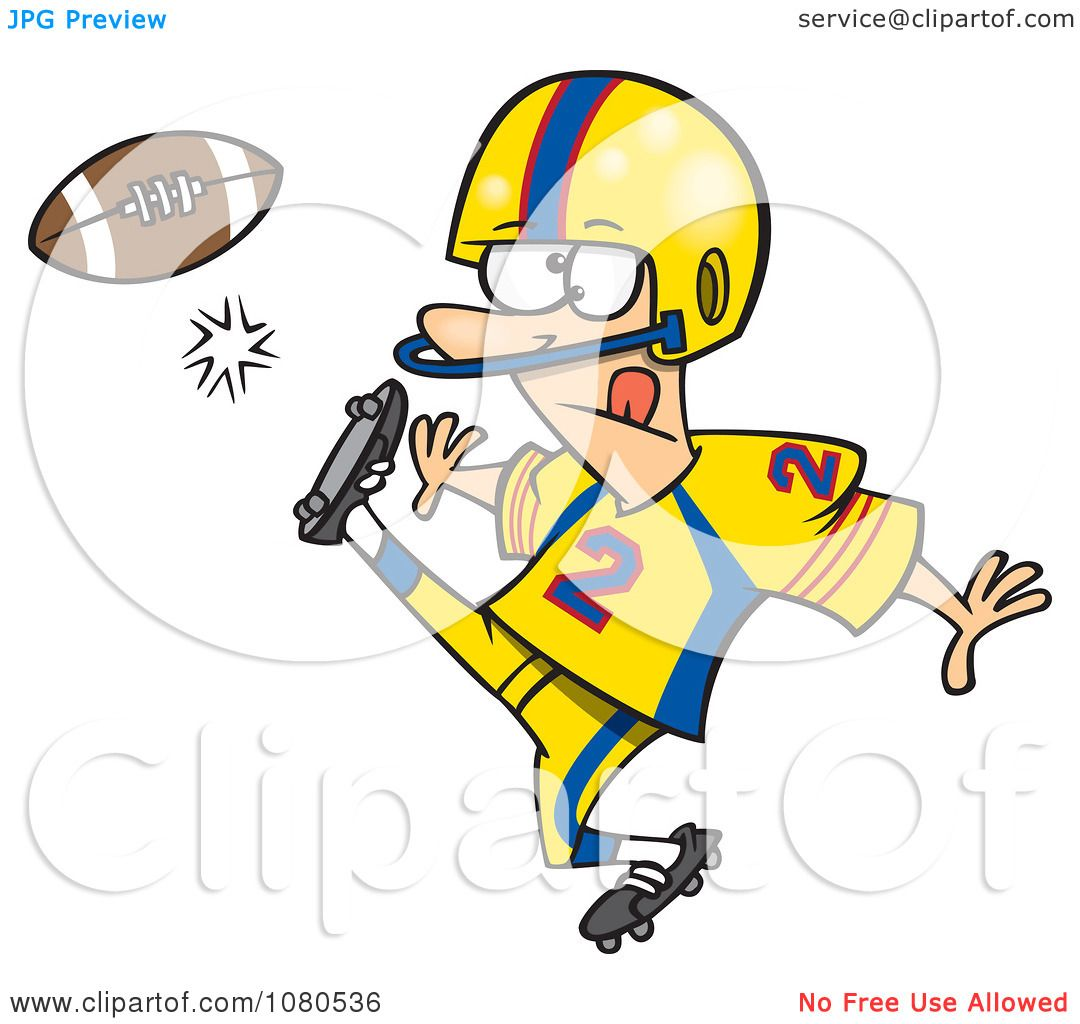 hight resolution of clipart football player kicking royalty free vector illustration by toonaday