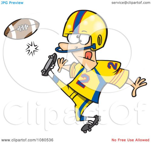 small resolution of clipart football player kicking royalty free vector illustration by toonaday