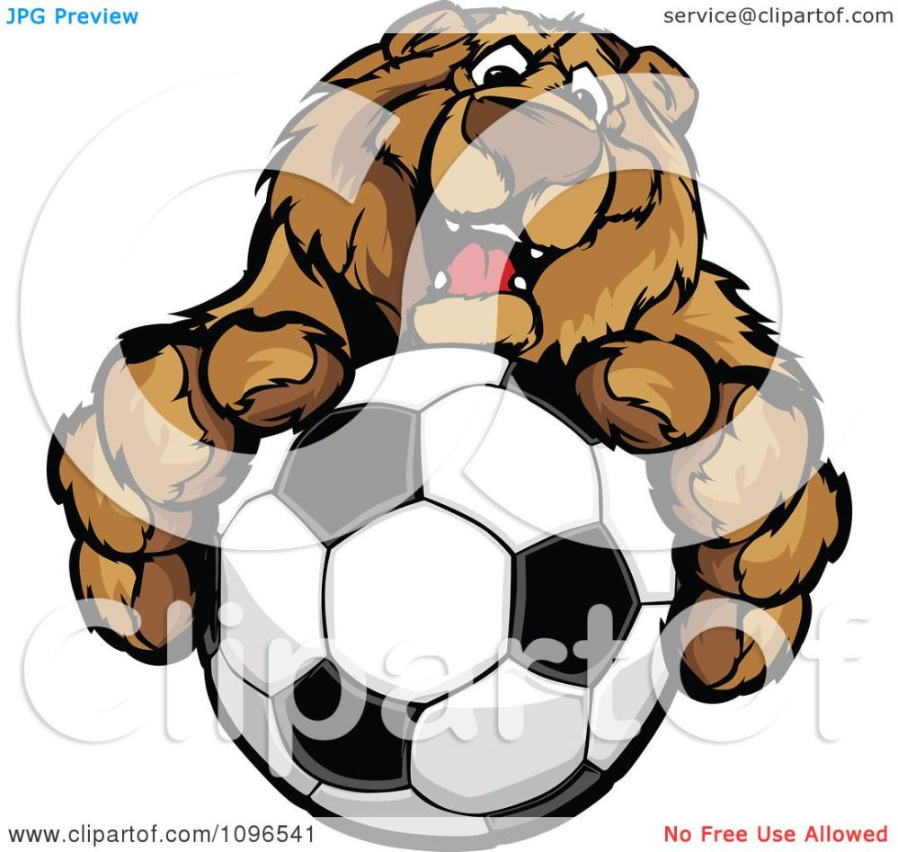 medium resolution of clipart friendly bear mascot holding out a soccer ball royalty free vector illustration by chromaco