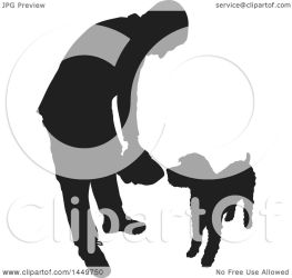 dog feeding illustration clipart vector royalty silhouetted bell graphic clip maria copyright allowed