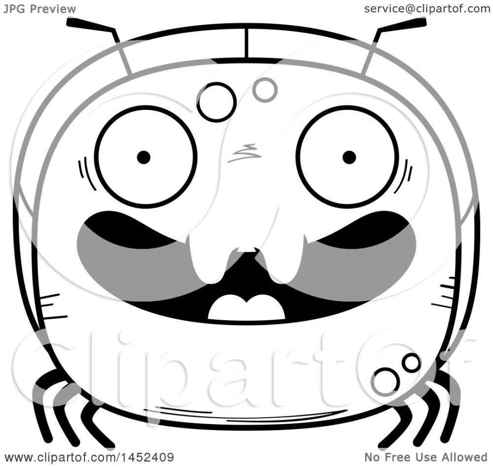 medium resolution of clipart graphic of a cartoon black and white lineart happy ant character mascot royalty free