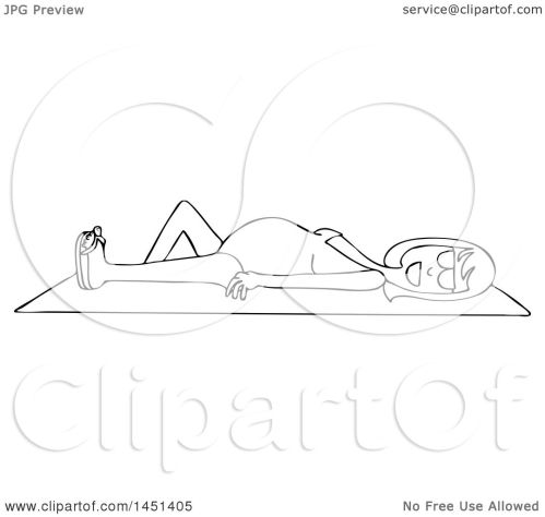 small resolution of clipart graphic of a cartoon black and white lineart happy pregnant woman sun bathing on a