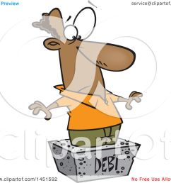 clipart graphic of a cartoon black man debtor stuck in a cement block royalty free [ 1080 x 1024 Pixel ]