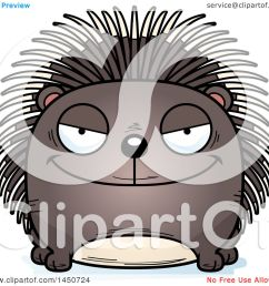 clipart graphic of a cartoon sly porcupine character mascot royalty free vector illustration by cory thoman [ 1080 x 1024 Pixel ]
