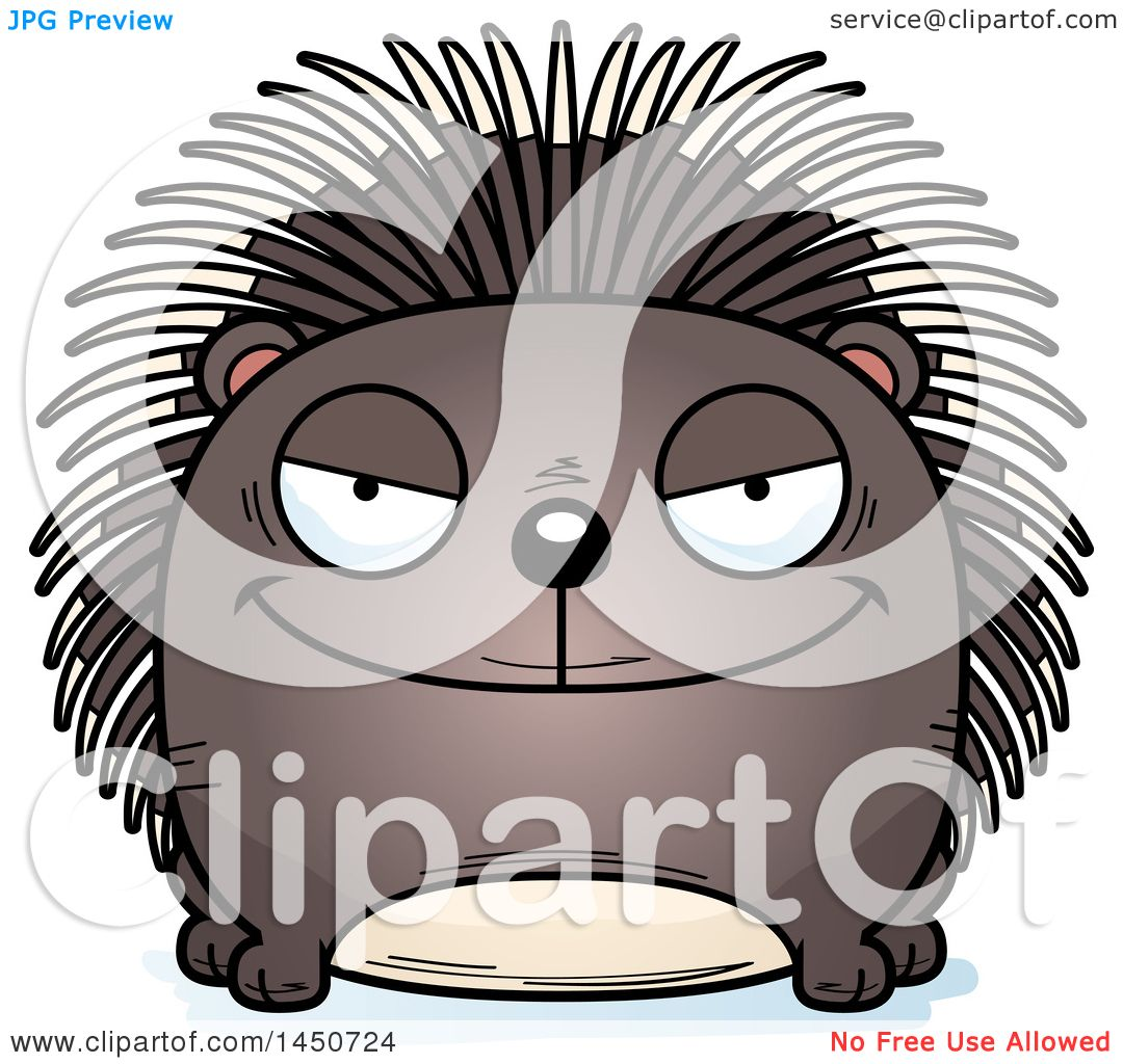 hight resolution of clipart graphic of a cartoon sly porcupine character mascot royalty free vector illustration by cory thoman