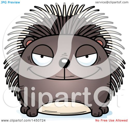 small resolution of clipart graphic of a cartoon sly porcupine character mascot royalty free vector illustration by cory thoman