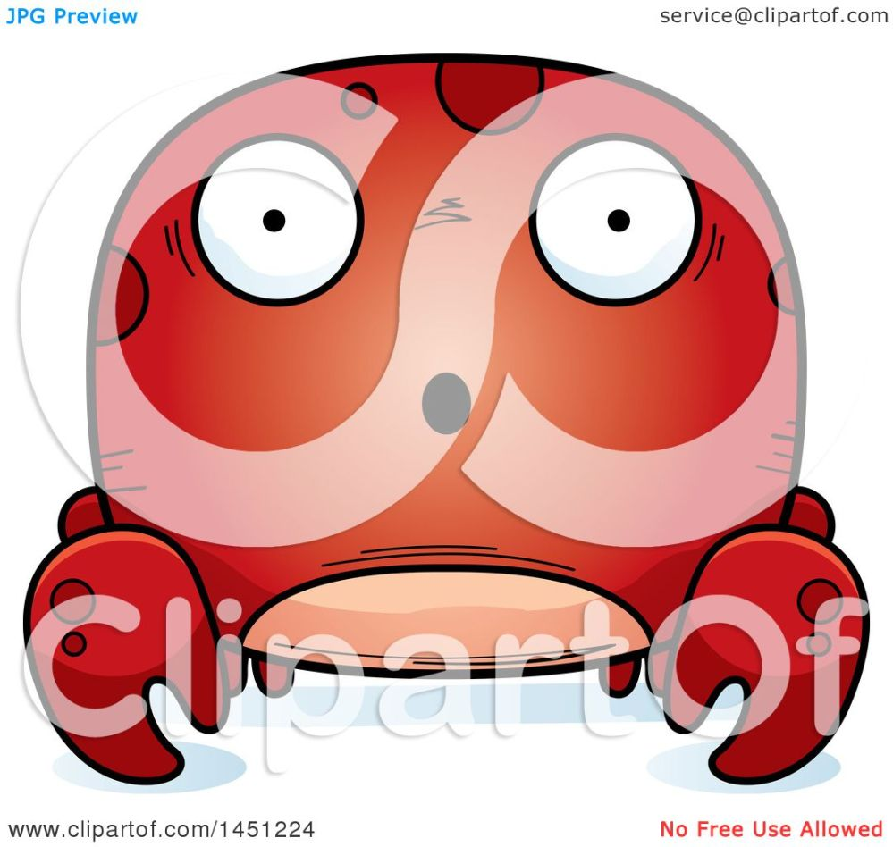 medium resolution of clipart graphic of a cartoon surprised crab character mascot royalty free vector illustration by cory thoman