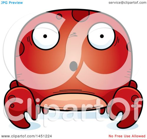 small resolution of clipart graphic of a cartoon surprised crab character mascot royalty free vector illustration by cory thoman