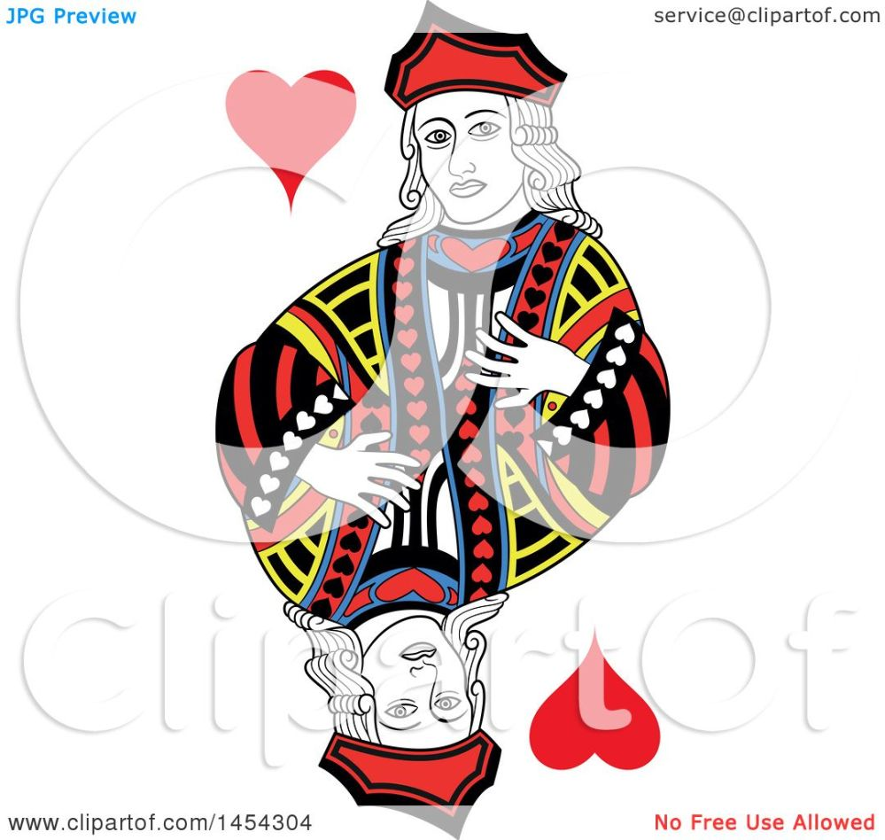 medium resolution of clipart graphic of a french styled jack of hearts design royalty free vector illustration by frisko
