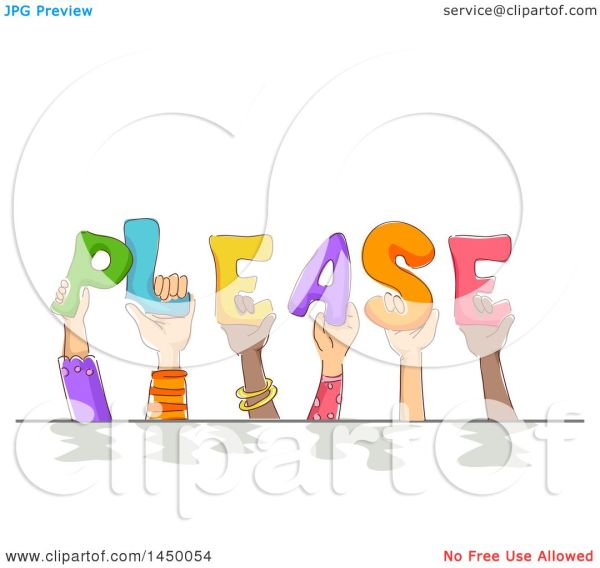 Clipart Graphic Of Group Sketched Child Hands Holding