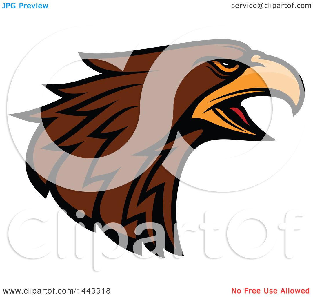 hight resolution of clipart graphic of a profiled brown eagle mascot head royalty free vector illustration by vector