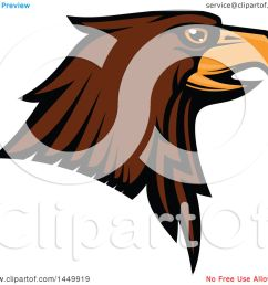 clipart graphic of a profiled brown eagle mascot head royalty free vector illustration by vector [ 1080 x 1024 Pixel ]