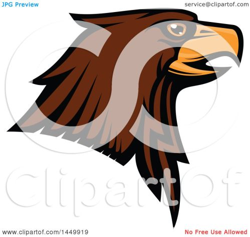 small resolution of clipart graphic of a profiled brown eagle mascot head royalty free vector illustration by vector