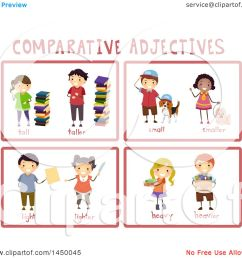 clipart graphic of educational comparative adjective flash cards royalty free vector illustration by bnp design [ 1080 x 1024 Pixel ]