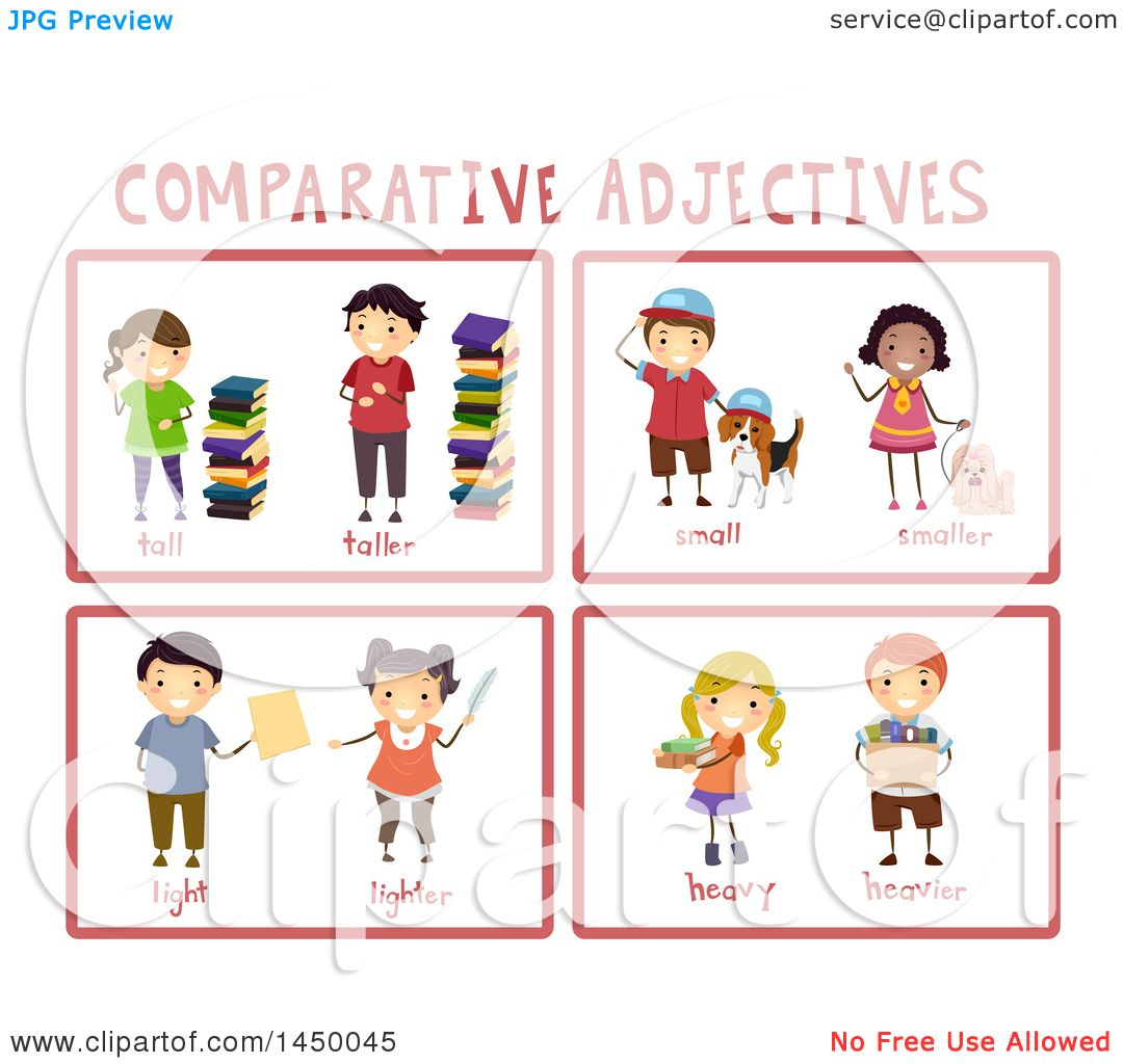 hight resolution of clipart graphic of educational comparative adjective flash cards royalty free vector illustration by bnp design