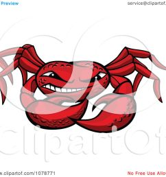 clipart grinning red crab royalty free vector illustration by vector tradition sm [ 1080 x 1024 Pixel ]