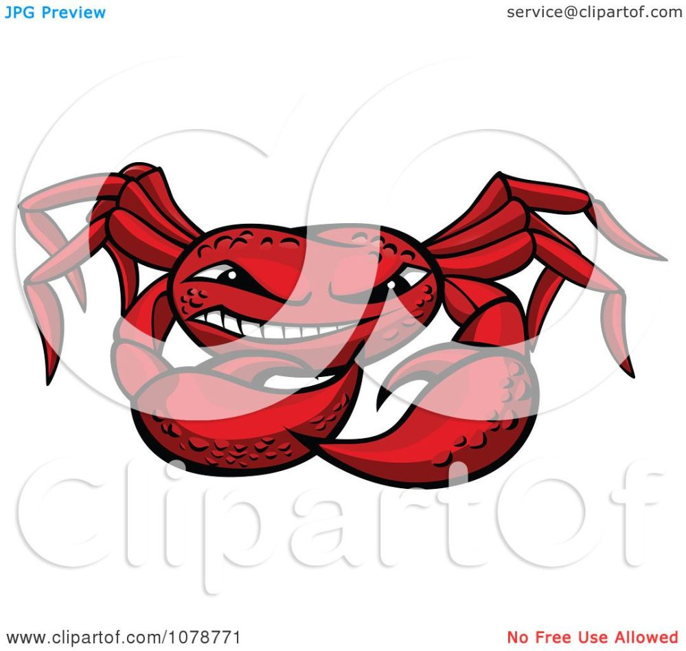 medium resolution of clipart grinning red crab royalty free vector illustration by vector tradition sm