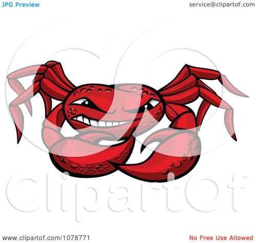small resolution of clipart grinning red crab royalty free vector illustration by vector tradition sm