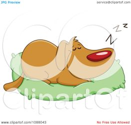 dog bed pillow sleeping clipart illustration happy vector royalty yayayoyo background without regarding notes