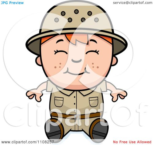 small resolution of clipart happy red haired safari boy sitting royalty free vector illustration by cory thoman