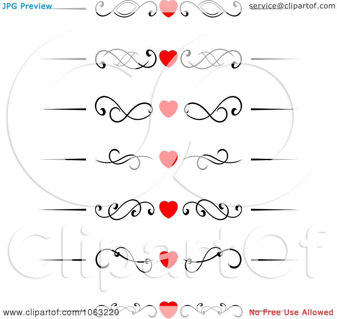 Clipart Heart Flourish Borders Digital Collage