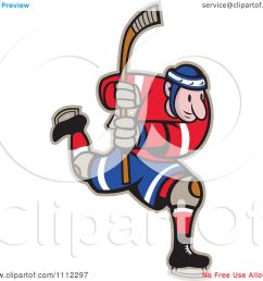 clipart hockey player skating and holding up a stick royalty free vector illustration by patrimonio [ 1080 x 1024 Pixel ]