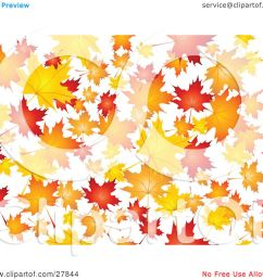 clipart illustration of a background of orange red and yellow maple leaves falling over white by kj pargeter [ 1080 x 1024 Pixel ]