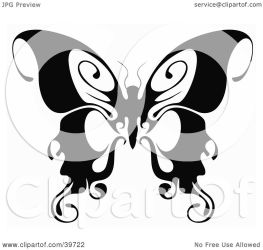 butterfly clipart wings illustration tips curling its dero clip