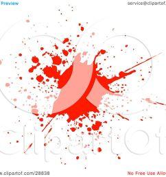 clipart illustration of a big red blood splatter on a white background by kj pargeter [ 1080 x 1024 Pixel ]