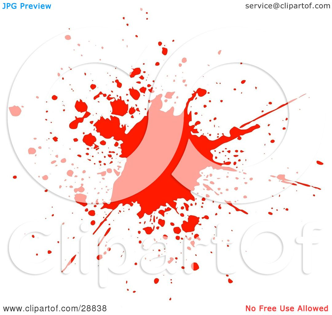hight resolution of clipart illustration of a big red blood splatter on a white background by kj pargeter