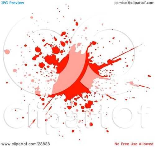 small resolution of clipart illustration of a big red blood splatter on a white background by kj pargeter