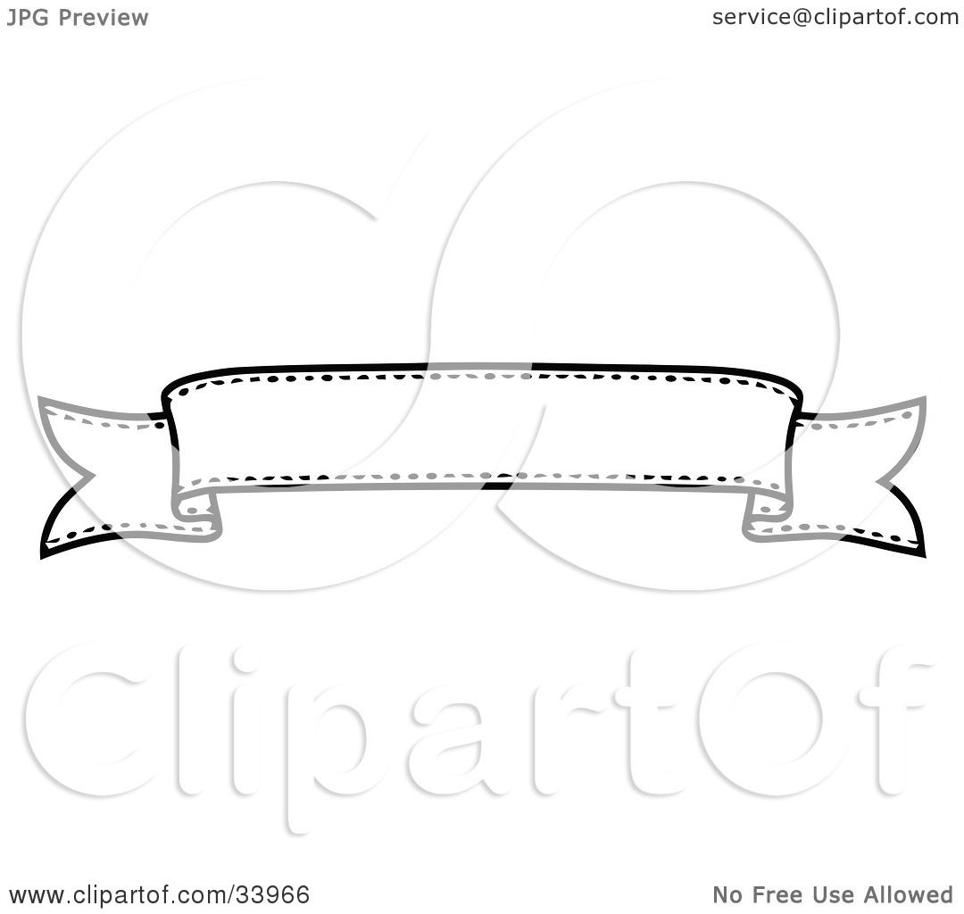 Clipart Illustration Of A Black And White Banner With