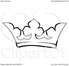 crown outline clipart queen king illustration dero clip royal background clipartpanda royalty without
