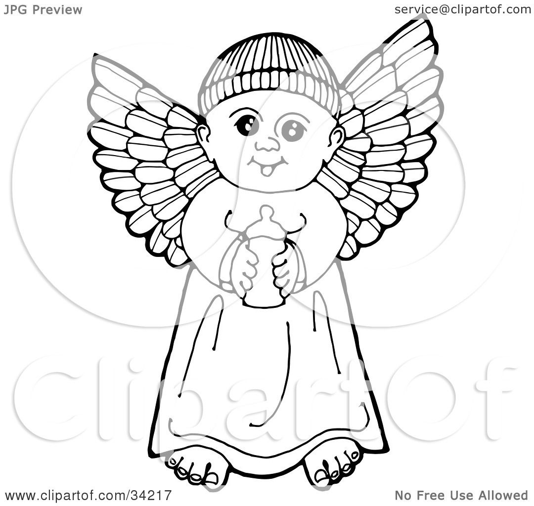 Clipart Illustration Of A Black And White Pen And Ink