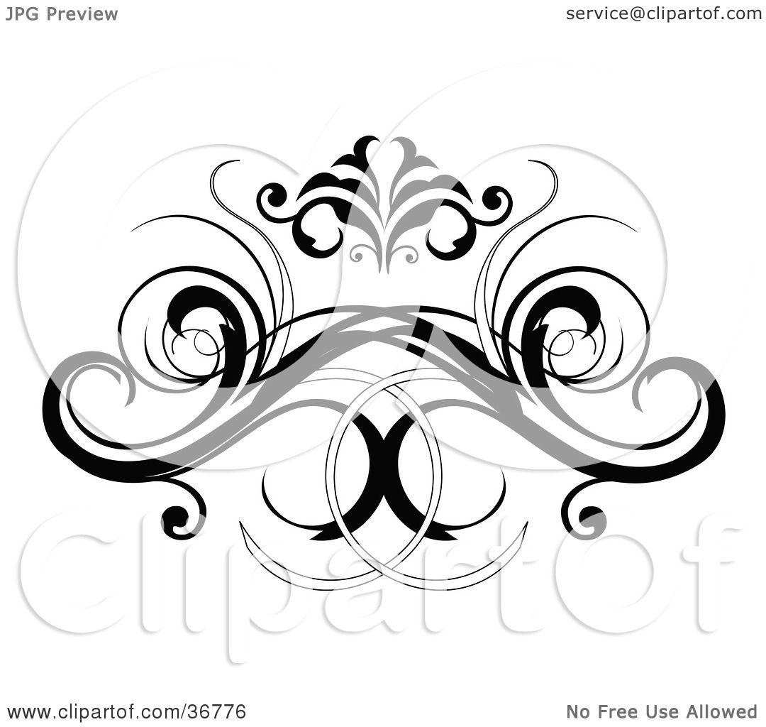Clipart Illustration of a Black Decorative Design Element