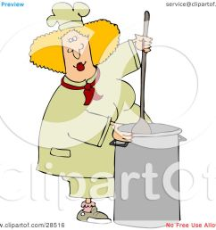 clipart illustration of a blond white culinary chef woman mixing a pot of food in a [ 1080 x 1024 Pixel ]