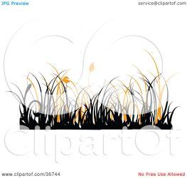 orange border grass clipart silhouetted background onfocusmedia illustration clipartpanda
