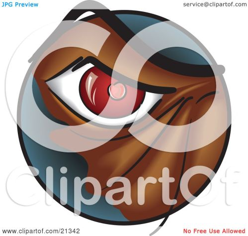 small resolution of clipart illustration of a closeup of a red eye of an angry monster or dog by