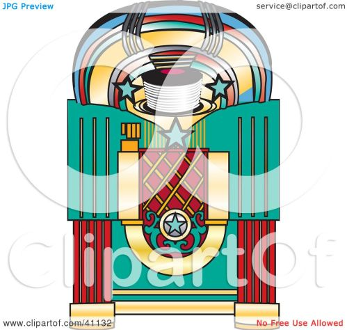 small resolution of clipart illustration of a colorful retro jukebox by dennis holmes designs