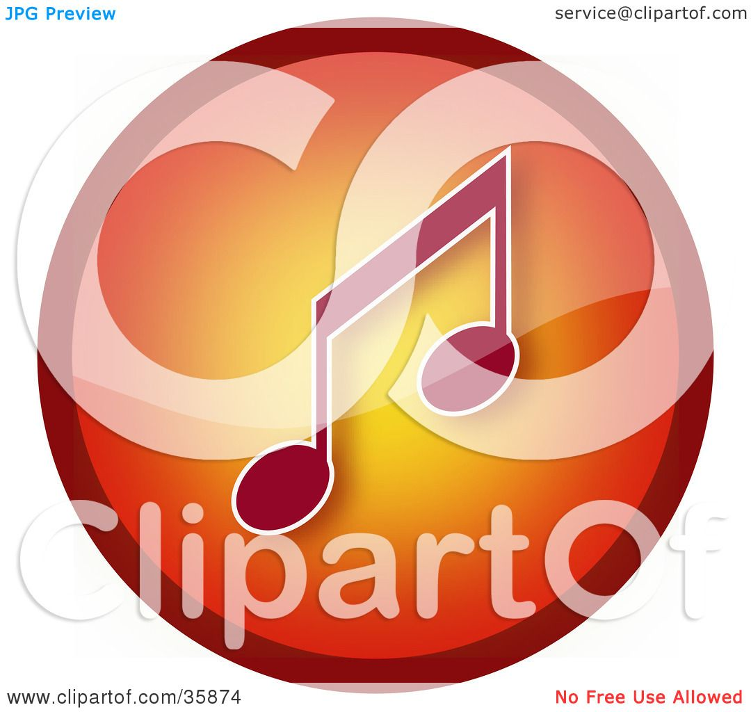 hight resolution of clipart illustration of a gradient red and orange music note icon button by yuhaizan yunus