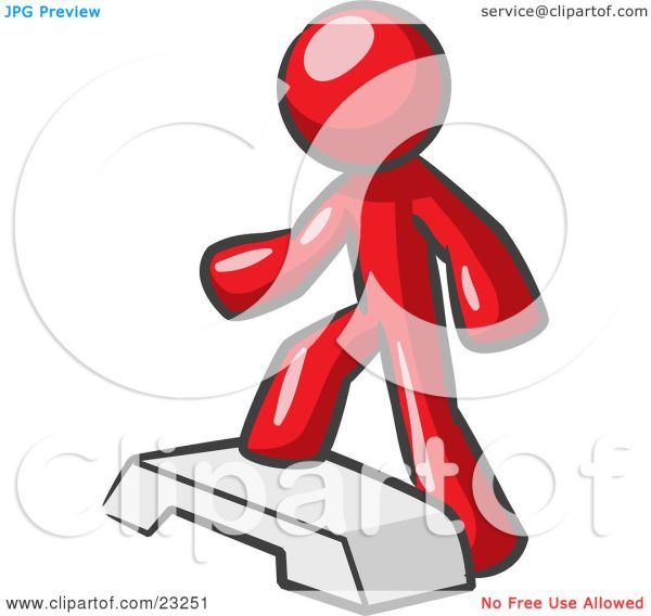 clipart illustration of red man