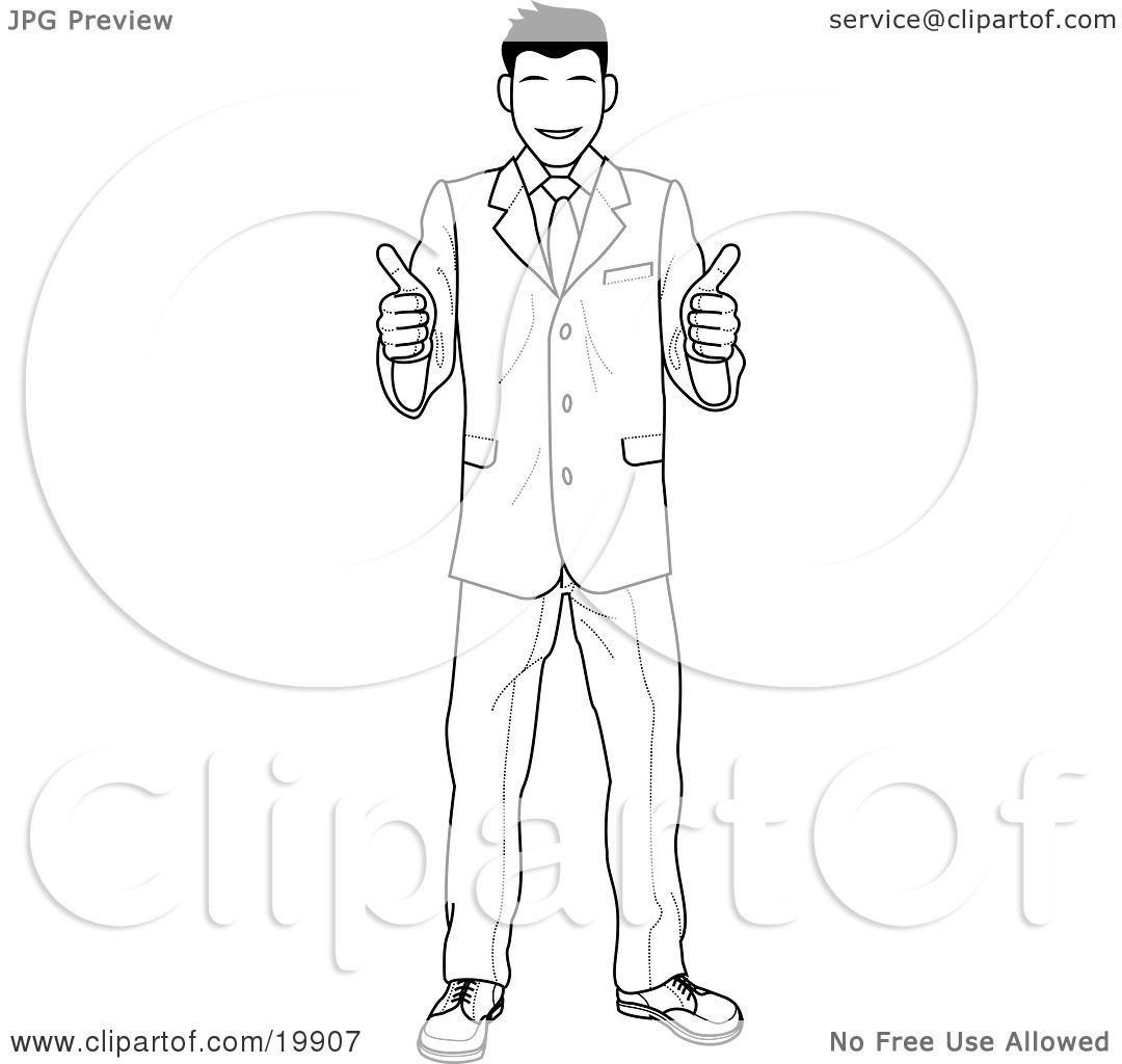 Clipart Illustration Of A Satisified Customer Or Boss