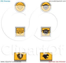 orange cougar clipart six icons illustration eugene