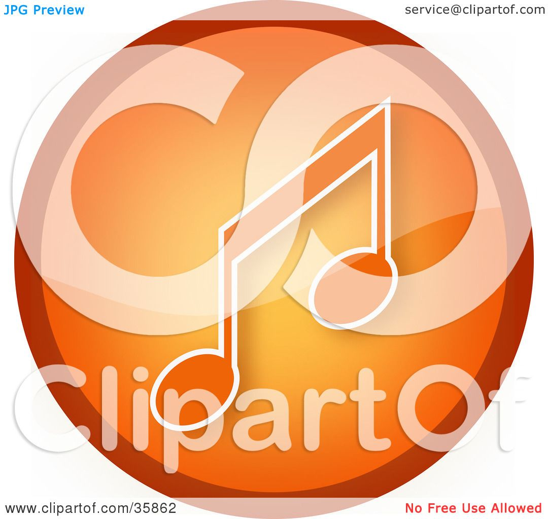 hight resolution of clipart illustration of a shiny orange music note icon button by yuhaizan yunus