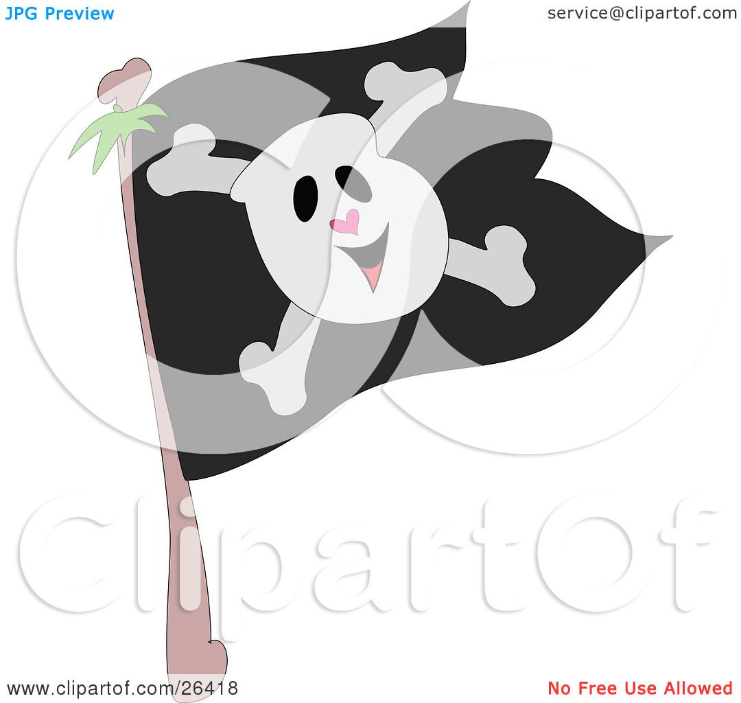 Pencil Drawings Pirate Flag