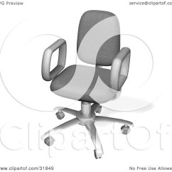 Office Chair Illustration Aluminum Chaise Lounge Pool Chairs Clipart Of A Wheeled Computer Desk With