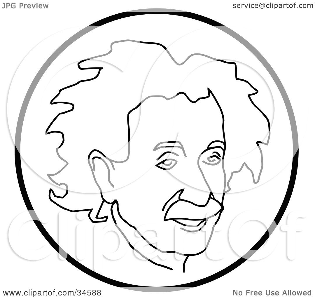 Clipart Illustration Of Albert Einstein Inside A Circle By